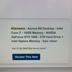 Alienware Aurora R6 Gaming Desktop Computer (16GB Memory, NVIDIA GTX 1080, 2TB HD) for Sale in Camas, WA