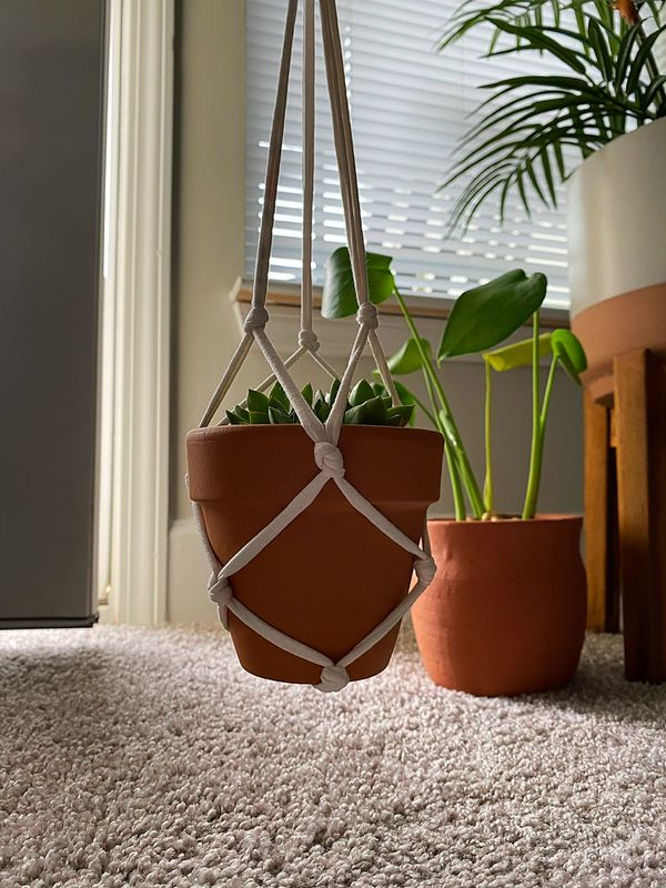 Plant Hanger with Clay Pot