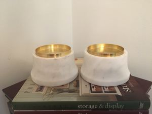 Set of Heavy Genuine Marble Candle Holders for Sale in St. Petersburg, FL
