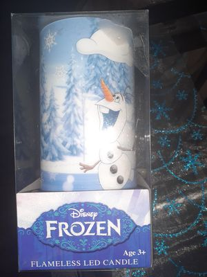 NWT Frozen OlaF flameless left candle for Sale in Perris, CA