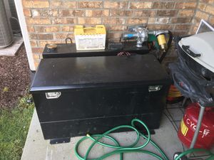 Fuel transfer tank with upgraded pump and nozzle. New never used for Sale in Unionville, TN