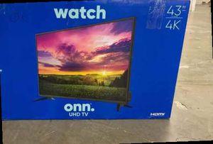 """Brand New 43"""" 4K ONN TV! Open box w/ warranty T0N for Sale in Ontario, CA"""