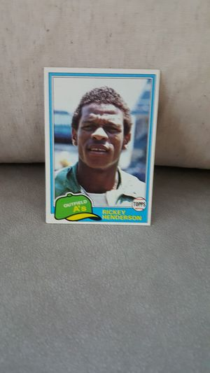 Baseball card Rickey Henderson 1981 for Sale in Placentia, CA