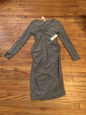 Brand new with tags Mimi maternity long sleeve gray sweater dress medium for Sale in Philadelphia, PA
