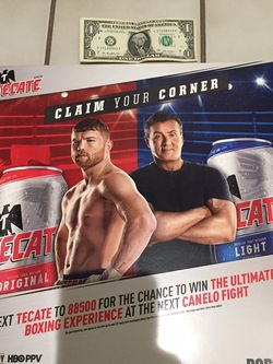 Canelo, Rocky Poster Tecate Beer Boxing for Sale in Perris,  CA