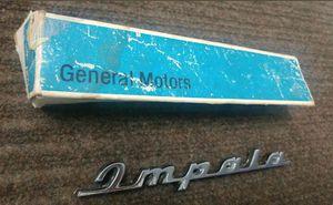 NOS 1960 IMPALA HARDTOP CONVERTIBLE QUARTET PANEL EMBLEM SCRIPT 348 283 GM for Sale in Chicago, IL