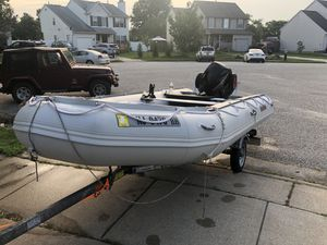 Saturn inflatable boat 15ft with a 25hp 4 stroke 2016 for Sale in Egg Harbor Township, NJ
