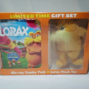 DR SEUSS THE LORAX New Blu-ray + DVD Limited Time Gift Set with Lorax Plush Toy for Sale in Bonney Lake, WA