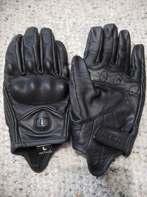 Motorcycle riding gloves ICON women's size L for Sale in Dayton, OR