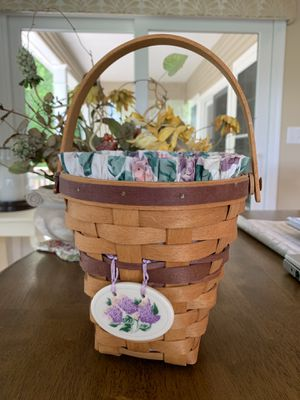 Longaberger lilac basket for Sale in Oxford, CT