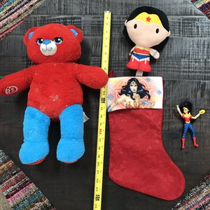 Wonder Woman DC Comics Lot Including a Build a Bear $5 for all for Sale in Port St. Lucie, FL