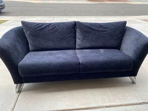 Contemporary Black Suede Couch. Chrome Lega for Sale in Phoenix, AZ