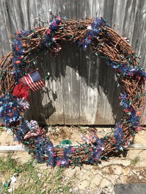 Patriotic Memorial Independence Wreath for Sale in Caney, KS
