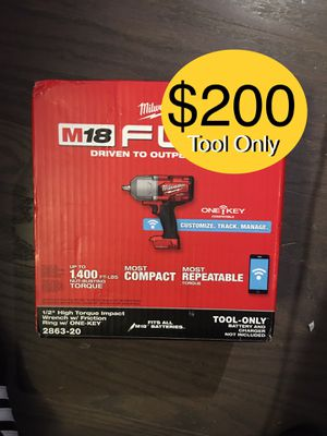 "MILWAUKEE M18 FUEL 1/2"" IMPACT WRENCH •ONE-KEY• (ToolOnly) $200 FIRM -NO MENO$ for Sale in Austin, TX"