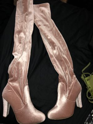 Blush pink thigh boots for Sale in Keizer, OR