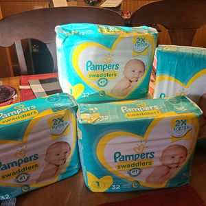 Pampers Swaddlers Size 1 for Sale in Monroe Township, NJ