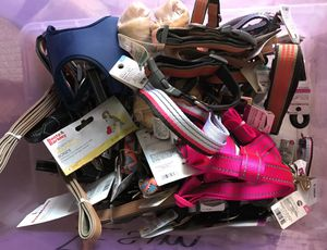 Lot of collars, leashes, harnesses for dogs all new with tags for Sale in Piscataway, NJ