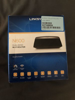 Linksys N600 Router E2500 2.4GHz & 5GHz for Sale in St. Petersburg, FL
