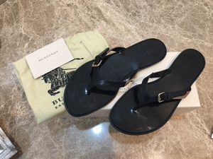 Black Icon Clip Housecheck Masie Thong Flats Sandals for Sale in Houston, TX