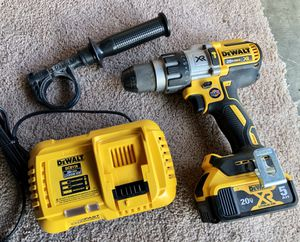 Dewalt XR Brushless drill driver with 5ah 20v battery and fast charger for Sale in Everett, WA