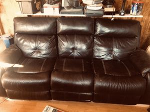 Electric Reclining Three Seat Couch for Sale in Riverside, CA