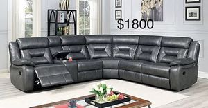 $50 down / New power leather sectional recliner couch with led lights / FREE DELIVERY for Sale in Beverly Hills, CA