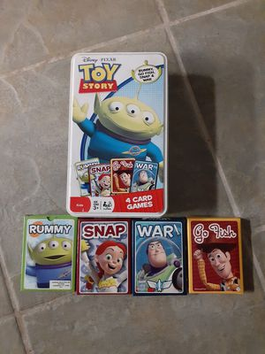 Toy story card games for Sale in San Bernardino, CA