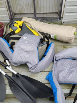Inflatable Kayak And 4 Person Tent for Sale in Virginia Beach,  VA