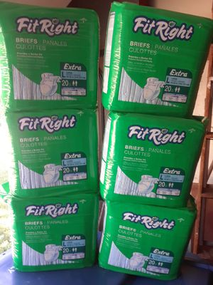 Adult Diapers Size Large 5pks for Sale in Indianapolis, IN