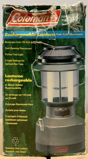 Vintage COLEMAN Personal Lantern Camping 5344-700 Twin Fluorescent z4 for Sale in Los Angeles, CA