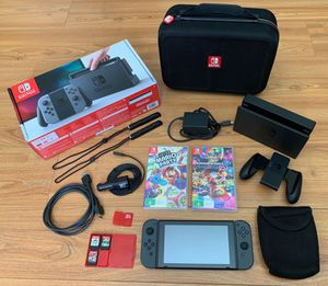 Nintendo Switch Bundle Super Mario party, Mario Kart 8 Deluxe, Crash Bandicoot, Rocket League, Fortnite, No Thing. 128GB Memory Card, Carrying Case N for Sale in Murrieta, CA
