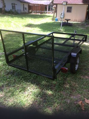 4'x8' Utility Trailer - Freshly Reconditioned - Totally Rebuilt - New Wiring - Lights Work - Very Good 4.80x12 Tires - Tongue Jack - Freshly Painted for Sale in Dunnellon, FL