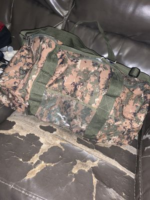 Camouflage Duffle bag & mini bag for Sale in Bloomington, CA