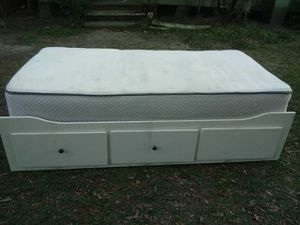 IKEA full size bed frame with 2 drawers for Sale in Fort Meade, FL