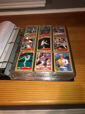 Full binder of 1987 baseball cards for Sale in Braintree, MA