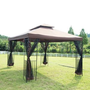 Heavy Duty Exclusive 10' X 10' Outdoor Gazebo Steel frame Vented Garden Gazebo Canopy Tent (NEW) T30 for Sale in Fredericksburg, VA