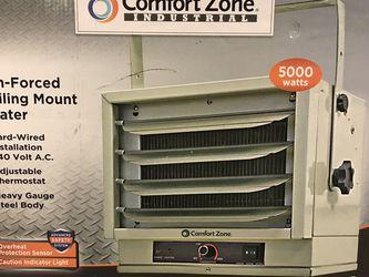 Comfort Zone CZ220 5,000-Watt Ceiling-Mounted 3-Setting Fan-Forced Industrial Heater for Sale in Norfolk,  VA