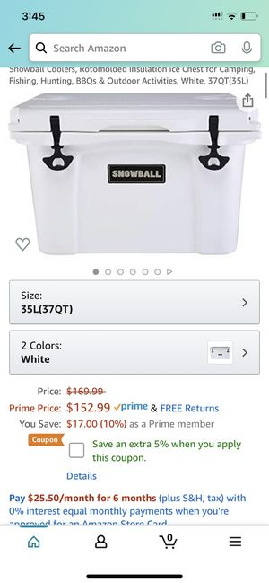 Snowball cooler for Sale in Bakersfield, CA