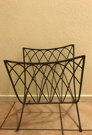 Wrought Iron Magazine Rack $12 for Sale in Las Vegas, NV