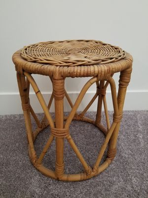 bamboo cane wicker side table plant stand for Sale in Queen Creek, AZ