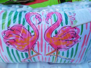 Set of 2 flamingo pillows new in package both $25.00 for Sale in Adkins, TX