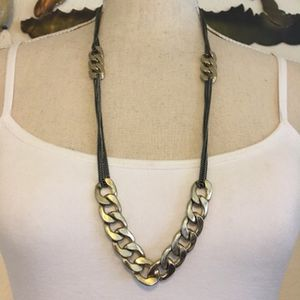 Multi strand black chrome gold link long necklace for Sale in Henderson, NV
