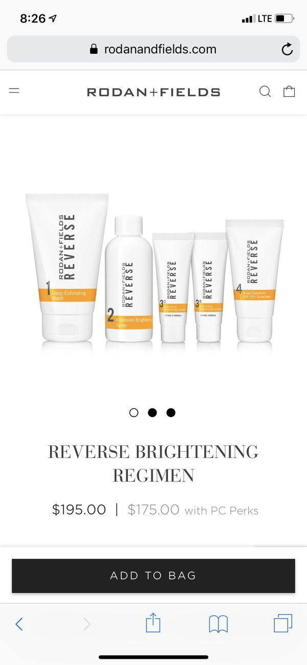 Rodan and Fields new Reverse system