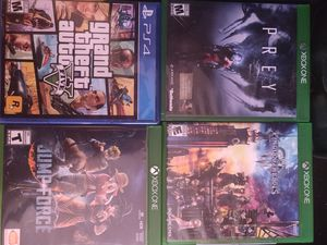 Xbox one and PS4 games for Sale for sale  San Antonio, TX