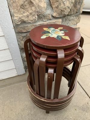 "Set of 4 /Maroon Stools - 25"" tall for Sale in Aurora, CO"