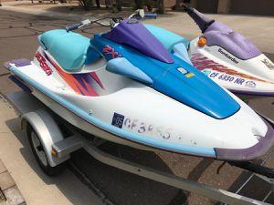 2 Jet Skis kawaski seadoo & Trailer for Sale in Gilbert, AZ