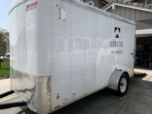2014 Pace American 6 x 12 Enclosed Trailer w/ custom shelving for Sale in Dinuba, CA