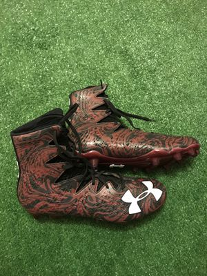 New! Under Armour Highlight Clutchfit Football Cleats Sz 13.5 Black for Sale in Tamarac, FL