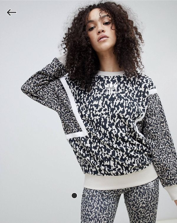 *NWOT* Adidas Sweatshirt in Leoflage Size 8 Women's