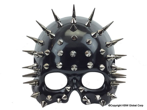 Spike Ghost Phantome Steampunk man Mask - Steampunk half face man style Mask Halloween